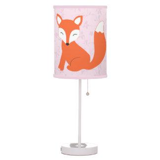 Pink Floral Woodland Fox Nursery Table Lamp