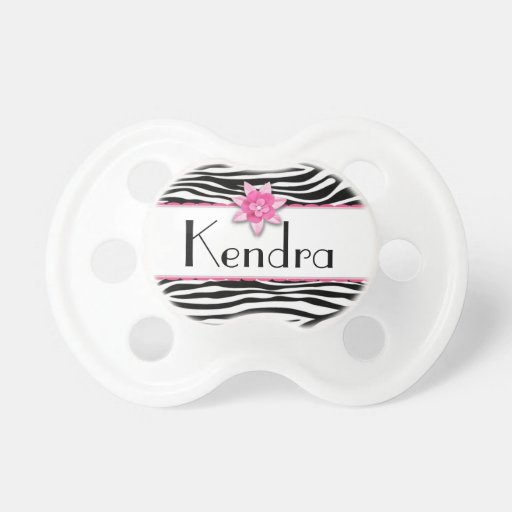 Pink floral zebra print pacifier