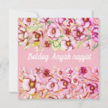 Pink florals - Hungarian Mother's Day