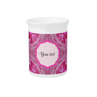 Pink Florals Pitcher at Zazzle