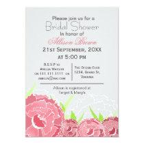 pink florals spring Bridal shower Card