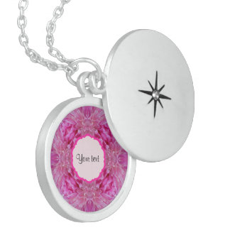 Pink Florals Sterling Silver Necklace