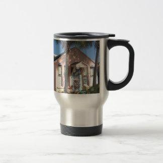 Pink Florida Cottage Travel Mug