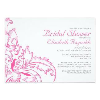 Pink Flourish Bridal Shower Invitations