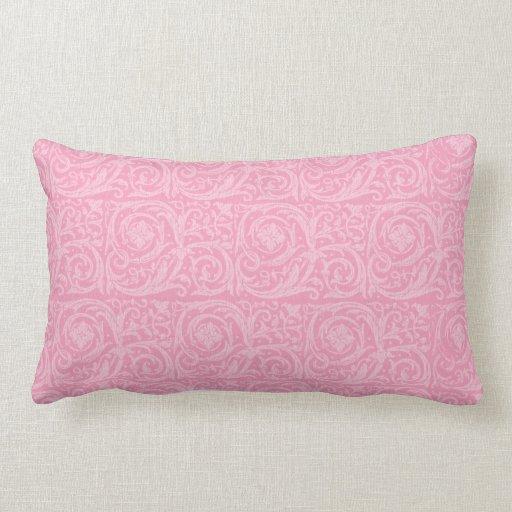 Pink Flourish Throw Pillows