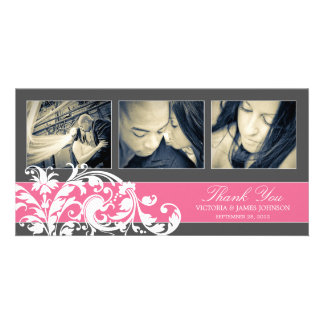 PINK FLOURISH | WEDDING THANK YOU CARD