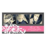 PINK FLOURISH   WEDDING THANK YOU CARD CUSTOM PHOTO CARD