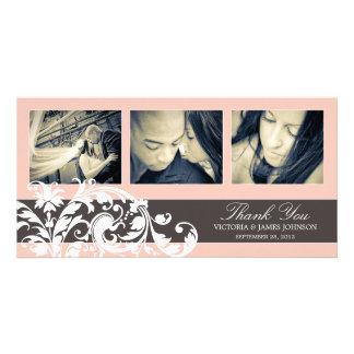 PINK FLOURISH | WEDDING THANK YOU CARD PHOTO CARD