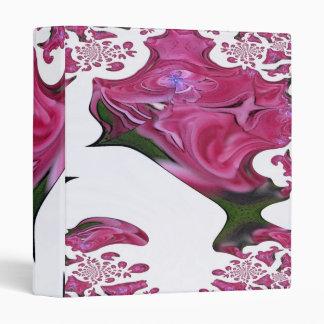 Pink Flower 1 Fractal Art Digital Image Binder