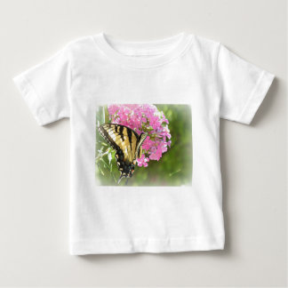 Pink Flower and Butterfly Baby T-Shirt