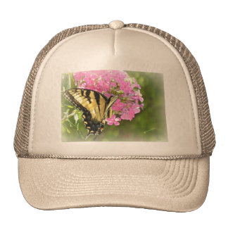 Pink Flower and Butterfly Trucker Hat