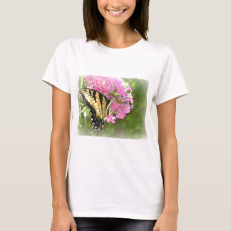 Pink Flower and Butterfly T-Shirt