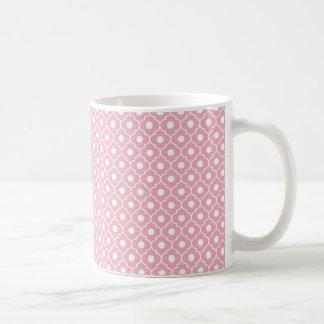 Pink Flower Argyle Pattern Coffee Mug