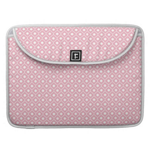 Pink Flower Argyle Pattern Macbook Pro With Flap Sleeve For MacBooks