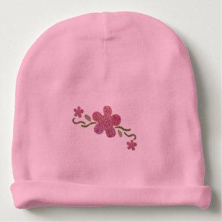 Pink Flower Baby Beanie