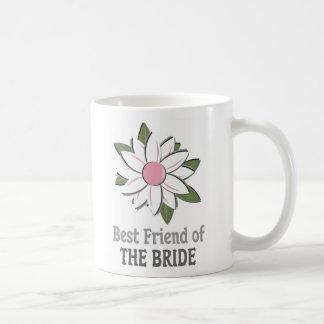 Pink Flower Best Friend Bride Classic White Coffee Mug
