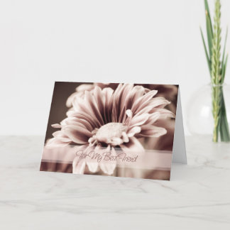 Pink Flower Best Friend Thank You Bridesmaid Card