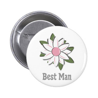 Pink Flower Best Man Pins