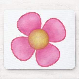 PINK FLOWER, BIG PETAL PINK FLOWER MOUSE PAD