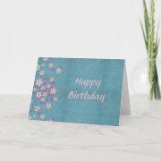 Pink Flower Birthday Card card