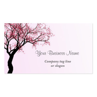 Pink Flower Blossom Tree Double-Sided Standard Business Cards (Pack Of 100)