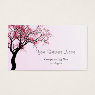 Pink Flower Blossom Tree Business Card