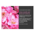 Pink Flower Blossoms Wedding Invitation