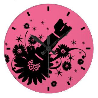 Pink Flower Bomb Clocks