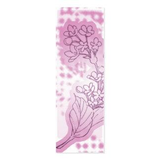 Pink Flower Bookmark Mini Business Card