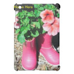 Pink Flower Boot  Cover For The iPad Mini