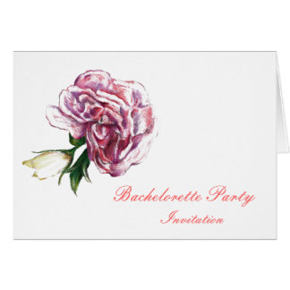 Pink Flower botanical Bachelorette  invitation Cards