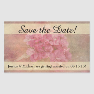 Pink Flower Bouquet Save the Date Stickers