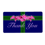 Pink Flower Bouquet Thank You Stickers - labels