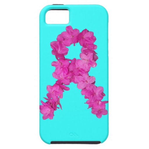 Pink Flower Breast Cancer Awareness Ribbon iPhone 5 Cases