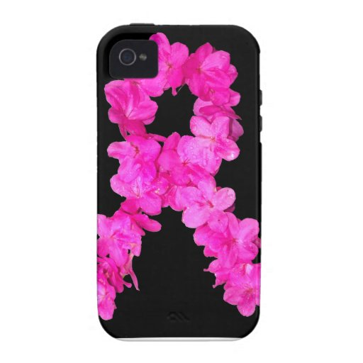 Pink Flower Breast Cancer Awareness Ribbon Vibe iPhone 4 Covers
