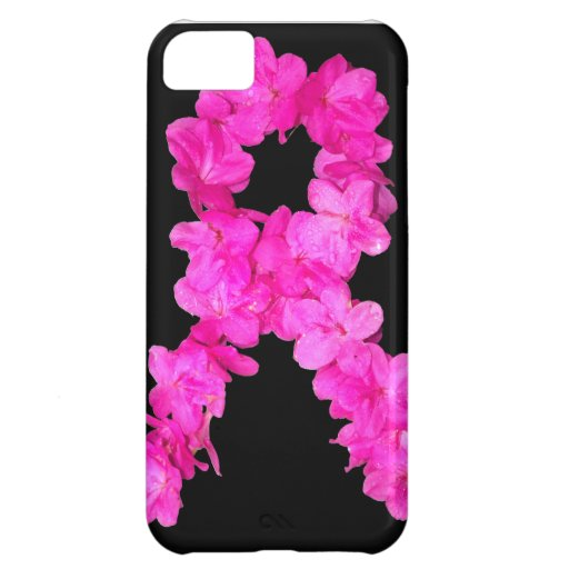 Pink Flower Breast Cancer Awareness Ribbon iPhone 5C Cover