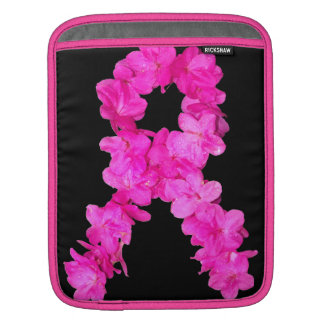 Pink Flower Breast Cancer Awareness Ribbon Sleeve For iPads