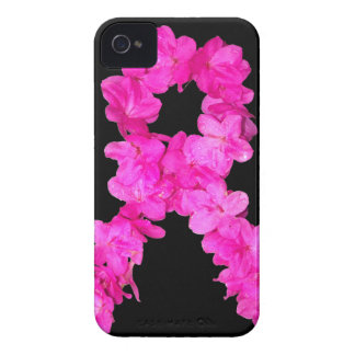 Pink Flower Breast Cancer Awareness Ribbon iPhone 4 Covers