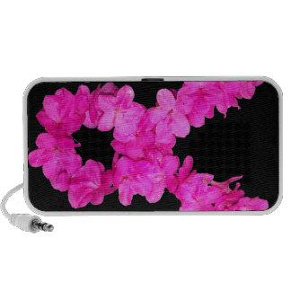 Pink Flower Breast Cancer Awareness Ribbon Mini Speaker