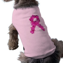Pink Flower Breast Cancer Awareness Ribbon T-Shirt