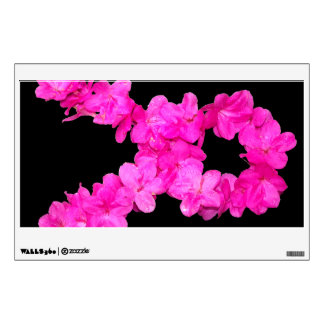 Pink Flower Breast Cancer Awareness Ribbon Wall Sticker