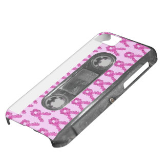 Pink Flower Breast Cancer Ribbon Cassette iPhone 5C Case