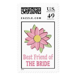 Pink Flower Bride Bestfriend Stamp
