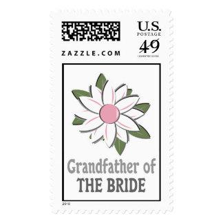Pink Flower Bride Grandfather Stamp