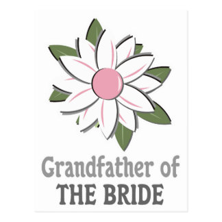 Pink Flower Bride Grandfather Postcard