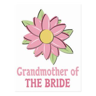 Pink Flower Bride Grandmother Postcard