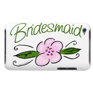 Pink Flower Bridesmaid Case-Mate iPod Touch Case
