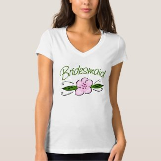 Pink Flower Bridesmaid shirt