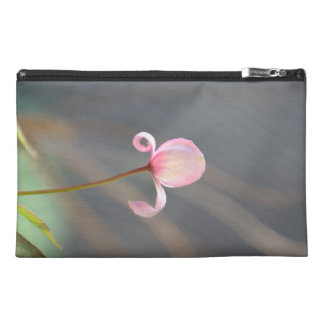 Pink Flower Bud Travel Accessory Bag