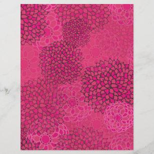 Pink flower design letterhead zazzle pink flower burst design mightylinksfo